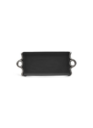 Main View - Click To Enlarge - L'Objet - Snake Rectangle Tray - Platinum