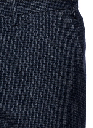 Detail View - Click To Enlarge - Canali - Regular fit houndstooth cotton flannel chinos