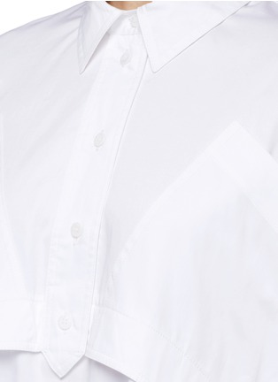 Detail View - Click To Enlarge - Opening Ceremony - Oversize sateen panelled shirt dress