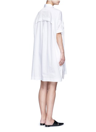 Back View - Click To Enlarge - Opening Ceremony - Oversize sateen panelled shirt dress