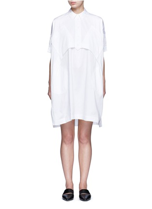 Main View - Click To Enlarge - Opening Ceremony - Oversize sateen panelled shirt dress