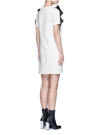Back View - Click To Enlarge - Opening Ceremony - Organza ruffle shoulder T-shirt dress
