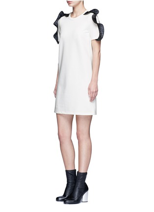 Figure View - Click To Enlarge - Opening Ceremony - Organza ruffle shoulder T-shirt dress