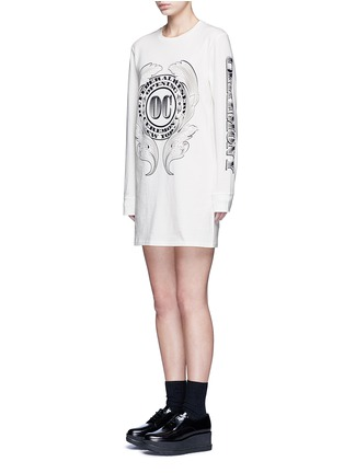 Front View - Click To Enlarge - Opening Ceremony - 'Bill' logo print T-shirt dress