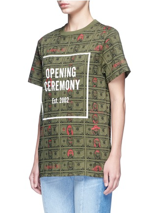 Front View - Click To Enlarge - Opening Ceremony - 'Money' print logo cotton T-shirt