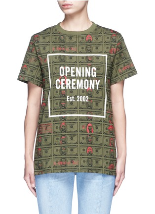 Main View - Click To Enlarge - Opening Ceremony - 'Money' print logo cotton T-shirt