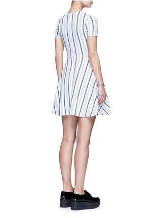 Back View - Click To Enlarge - Opening Ceremony - Stripe jacquard skater dress