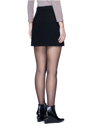 Back View - Click To Enlarge - Alexander Wang  - Leather adjuster zip skirt