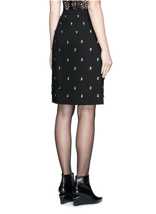 Back View - Click To Enlarge - Alexander Wang  - Ball stud high waist pencil skirt