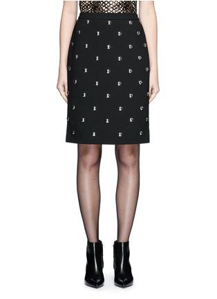 Main View - Click To Enlarge - Alexander Wang  - Ball stud high waist pencil skirt