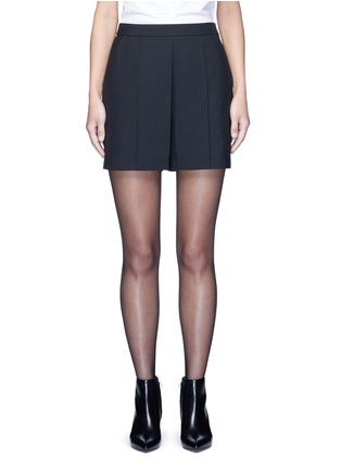 Main View - Click To Enlarge - Alexander Wang  - Pleated front tailored wool blend shorts