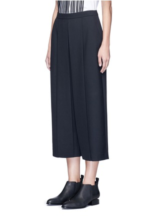 Front View - Click To Enlarge - ALEXANDERWANG - Pleated front cropped wool blend pants