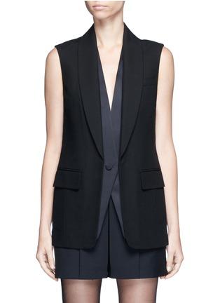 Main View - Click To Enlarge - Alexander Wang  - Double layer satin collar tuxedo vest