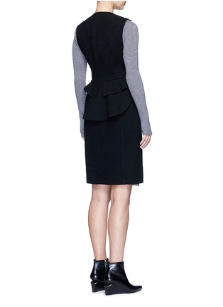 Back View - Click To Enlarge - ALEXANDERWANG - Peplum back zip front long vest