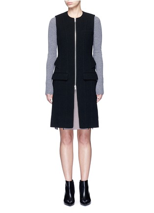 Main View - Click To Enlarge - ALEXANDERWANG - Peplum back zip front long vest