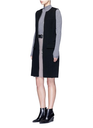 Figure View - Click To Enlarge - ALEXANDERWANG - Peplum back zip front long vest