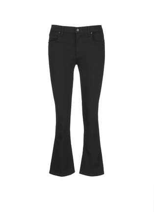 Main View - Click To Enlarge - ALEXANDERWANG - 'Trap' cropped flared boot leg jeans