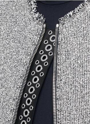 Detail View - Click To Enlarge - Alexander Wang  - Ball stud tweed peplum jacket