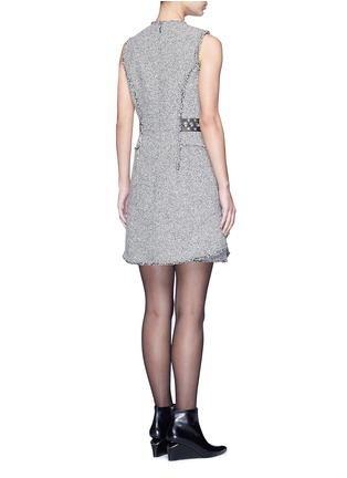 Back View - Click To Enlarge - alexanderwang - Grommet belt tweed peplum dress