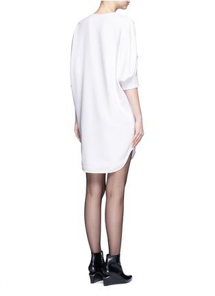 Back View - Click To Enlarge - Alexander Wang  - Keyhole front shirt tail dress