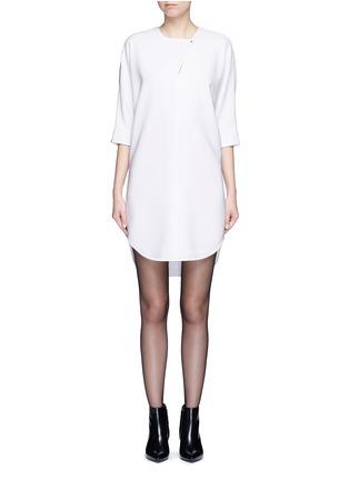 Main View - Click To Enlarge - Alexander Wang  - Keyhole front shirt tail dress