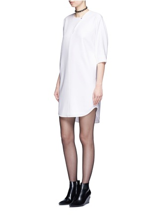 Figure View - Click To Enlarge - Alexander Wang  - Keyhole front shirt tail dress