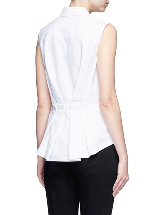 Back View - Click To Enlarge - Alexander Wang  - Peplum back sleeveless shirt