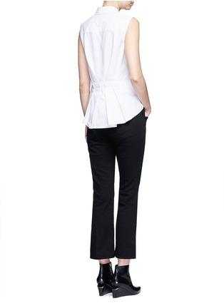 Figure View - Click To Enlarge - Alexander Wang  - Peplum back sleeveless shirt