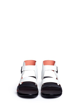 Front View - Click To Enlarge - Fitflop - 'Gladdie' colourblock leather sandals