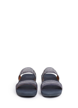 Front View - Click To Enlarge - Fitflop - 'Aztec Chada' mosaic stud suede slide sandals