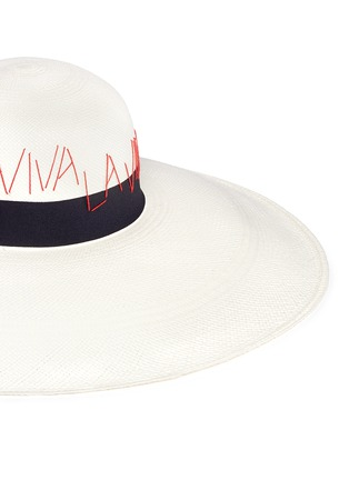 Detail View - Click To Enlarge - Sensi Studio - 'The Lady Ibiza' Viva La Vida Panama straw capeline hat