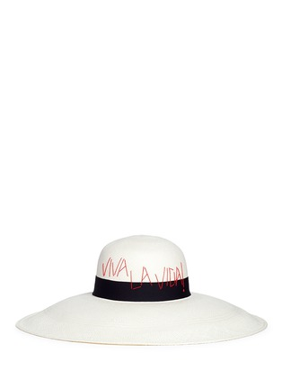 Figure View - Click To Enlarge - Sensi Studio - 'The Lady Ibiza' Viva La Vida Panama straw capeline hat