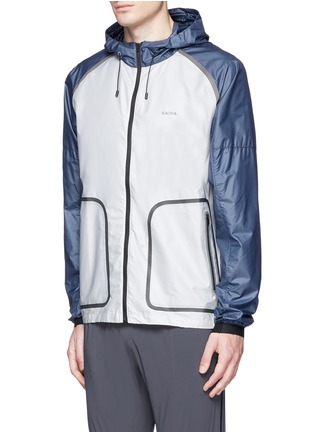 Front View - Click To Enlarge - ISAORA - 'XYTLITE' running windbreaker jacket