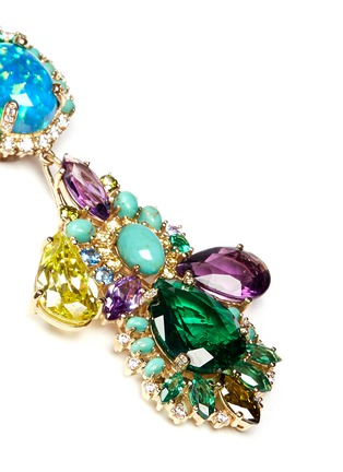Detail View - Click To Enlarge - Anabela Chan - 'Opals Poseidon' diamond pavé gemstone drop earrings