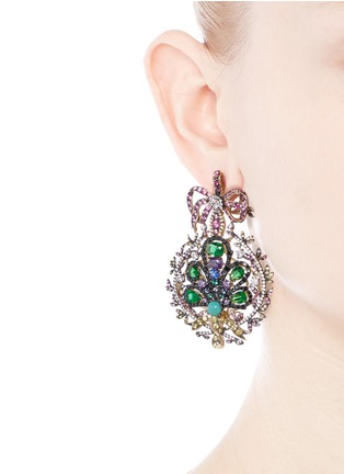 Figure View - Click To Enlarge - Anabela Chan - 'Mirage' gemstone 18k yellow gold plated drop earrings