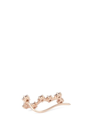 Detail View - Click To Enlarge - Anabela Chan - 'Constellation' diamond 9k rose gold single creeper earring