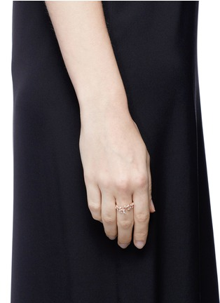 Figure View - Click To Enlarge - Anabela Chan - 'Ivy' diamond 9k rose gold twist ring