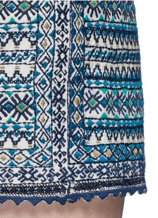 Detail View - Click To Enlarge - Talitha - 'Faro' tribal embroidered drawstring shorts