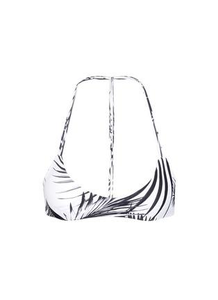 Main View - Click To Enlarge - Mikoh - 'Uluwatu' palm leaf print racerback bikini top