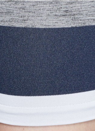 Detail View - Click To Enlarge - LNDR - 'Cadet' circular knit high waist bike shorts