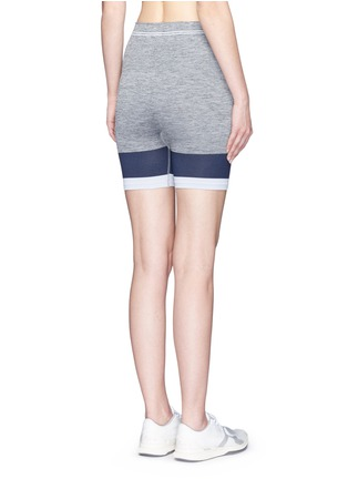 Back View - Click To Enlarge - LNDR - 'Cadet' circular knit high waist bike shorts