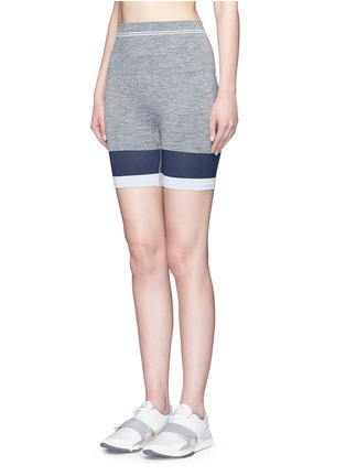 Front View - Click To Enlarge - LNDR - 'Cadet' circular knit high waist bike shorts