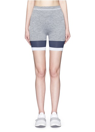Main View - Click To Enlarge - LNDR - 'Cadet' circular knit high waist bike shorts