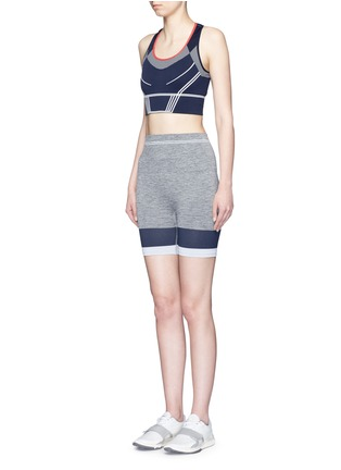 Figure View - Click To Enlarge - LNDR - 'Cadet' circular knit high waist bike shorts