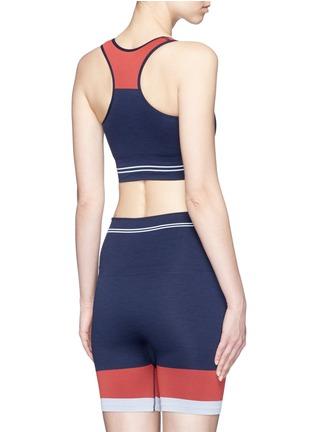 Back View - Click To Enlarge - LNDR - 'Cadet' circular knit sports bra