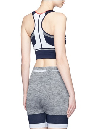 Back View - Click To Enlarge - 72883 - 'Squad' circular knit sports bra