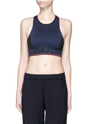 Main View - Click To Enlarge - LNDR - 'Aero' circular knit sports bra