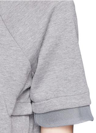 Detail View - Click To Enlarge - Nike - 'Tech Fleece' mesh cuff jersey dress