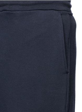 Detail View - Click To Enlarge - Thom Browne - Stripe leg cotton sweatpants
