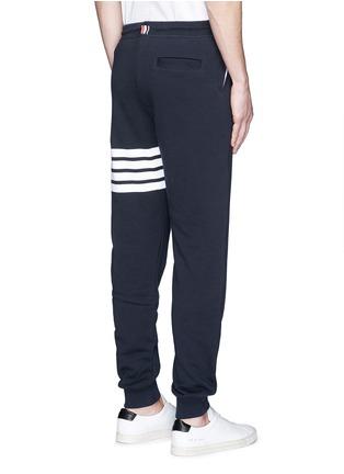Back View - Click To Enlarge - Thom Browne - Stripe leg cotton sweatpants